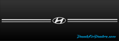 Hyundai Elantra Sante Fe Accent Tucson Sonata vinyl pinstripe emblem stripe logo decal graphic vinyl pinstripe emblem stripe logo decal graphic