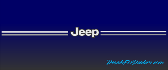 Jeep grand cherokee liberty vinyl pinstripe emblem stripe logo decal graphic