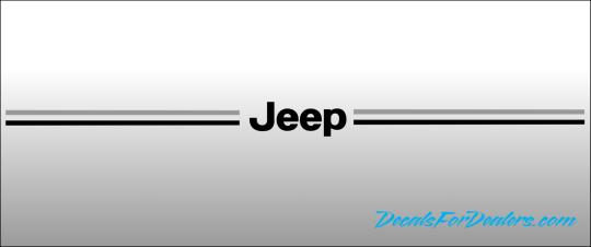 Jeep Grand Cherokee Compass Liberty Patriot vinyl pinstripe emblem stripe logo decal graphicJeep vinyl pinstripe emblem stripe logo decal graphic