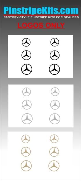 Mercedes-Benz pinstripe logo emblem decal kit
