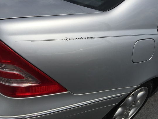 Mercedes-Benz pinstripe logo emblem decal kit stripes graphic