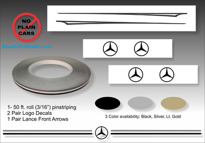 Mercedes-Benz vinyl pinstripe emblem stripe logo decal graphic