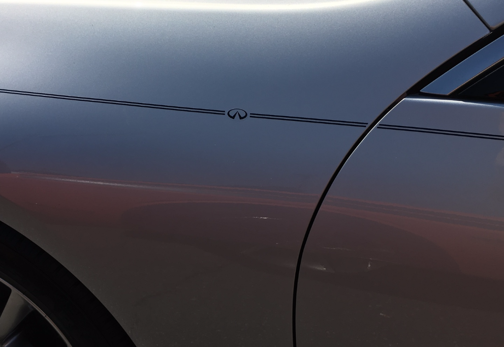 Infiniti vinyl pinstripe emblem stripe logo decal graphic sticker