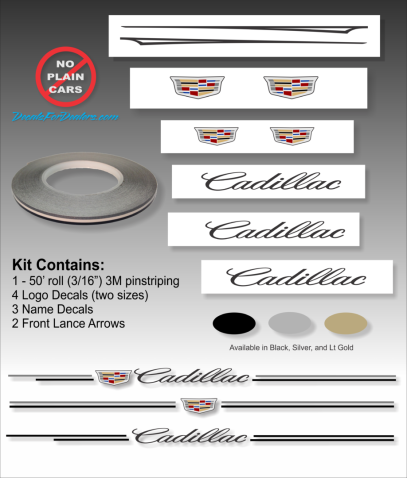 Cadillac vinyl pinstripe emblem stripe logo decal graphic emblem logo vinyl decal pinstripe graphic sticker stripe