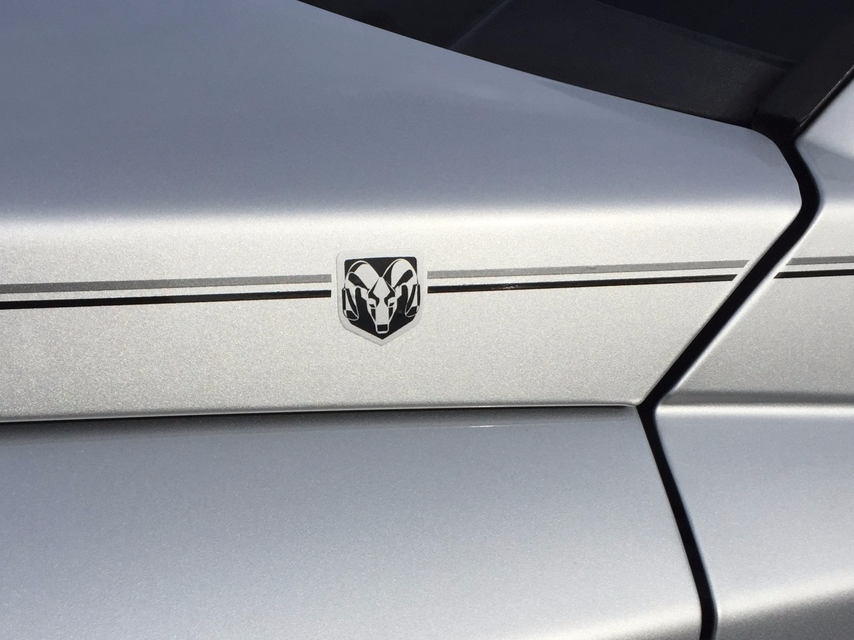 Ram vinyl pinstripe emblem stripe logo decal graphic