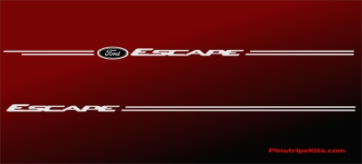Ford focus explorer f150 expedition taurus escape fusion vinyl pinstripe emblem stripe logo decal graphic