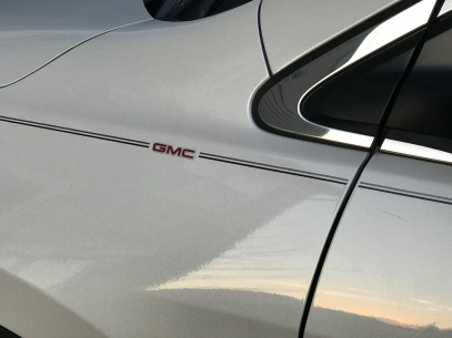 GMC vinyl pinstripe emblem stripe logo decal graphic