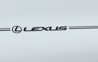 Lexus vinyl pinstripe emblem stripe logo decal graphic