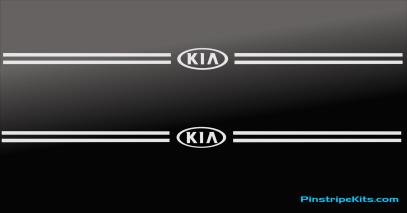Kia Sportage Sorento Rio Optima Soul Sedona  pinstripe logo decal emblem vinyl stripe