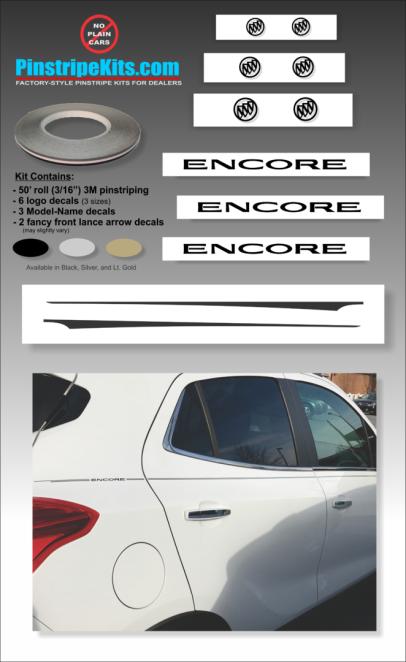 Buick Regal LaCrosse Envision Encore Enclave vinyl pinstripe emblem stripe logo decal graphic emblem logo vinyl decal pinstripe graphic sticker stripe