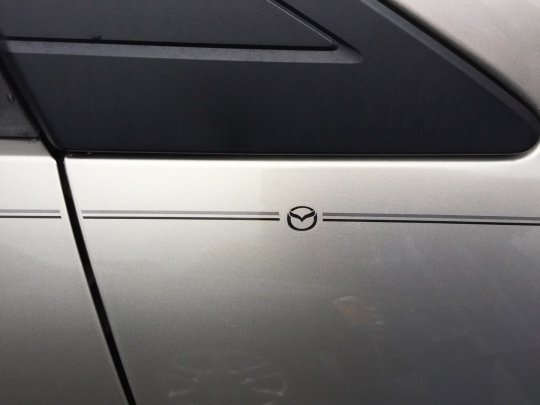 Mazda CX-9, Mazda CX-5, Mazda CX-3, Mazda6 Mazda3 Mazda2 Mazda5 vinyl pinstripe emblem stripe logo decal graphic