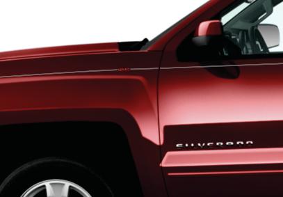 GMC Sierra Acadia terrain yukon envoy vinyl pinstripe emblem stripe logo decal graphic