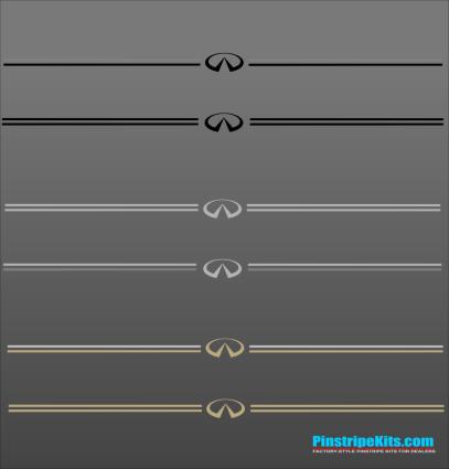 Infiniti vinyl pinstripe emblem stripe logo decal graphic