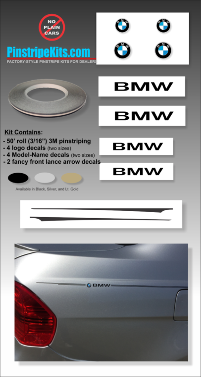 BMW 1 series, 2 series, 3 series, 4 series, 5 series, 6 series, vinyl pinstripe emblem stripe logo decal graphic emblem logo vinyl decal pinstripe graphic sticker stripe