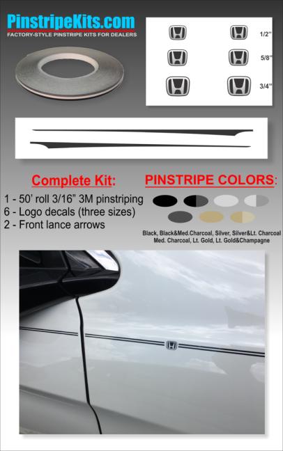 Honda Pilot Accord Civic CRV CR-V Odyssey Pilot Ridgeline Fit HRV HR-V Crosstour vinyl pinstripe emblem logo decal graphic stripe sticker kit
