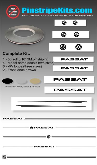VW Volkswagon Jetta Passat Beetle vinyl pinstripe emblem stripe logo decal graphic