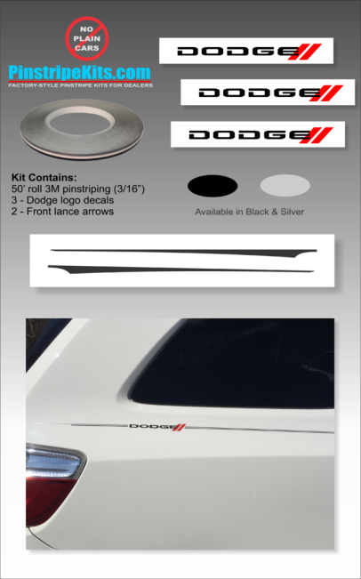 Dodge Grand Caravan avenger durango journey Dart auto,car,vehicle,pinstripe,pinstripes,stripes,small,logo,logos,small,decal,decals,emblem,emblems,graphic,graphics