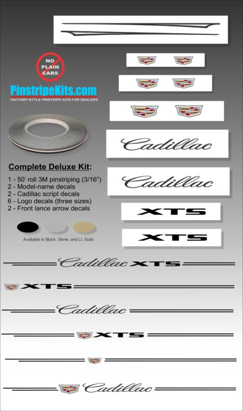 Cadillac SRX, STS, XTS, XT5, ST4, ATS, CTS, Escalade, vinyl pinstripe vinyl emblem stripe logo decal graphic emblem logo vinyl decal pinstripe graphic sticker stripe