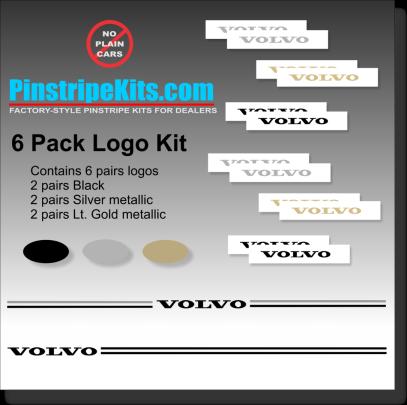 volvo vinyl pinstripe emblem stripe logo decal graphic