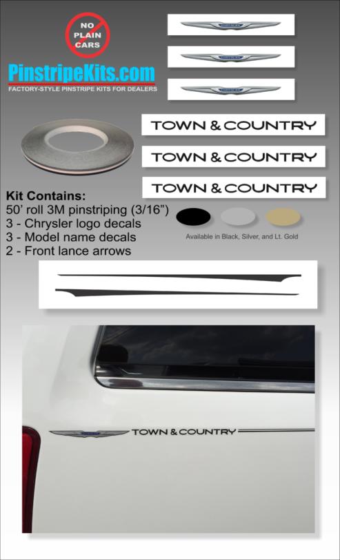 Chrysler 200 300 decal vinyl pinstripe emblem stripe logo decal graphic graphics decals