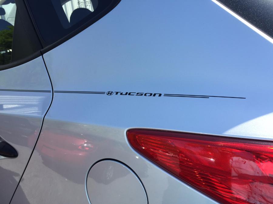Hyundai tucson logo with name pinstripe kit