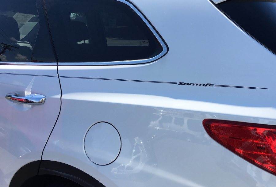 Violassi Striping Company Hyundai Santa Fe Logo Emblem