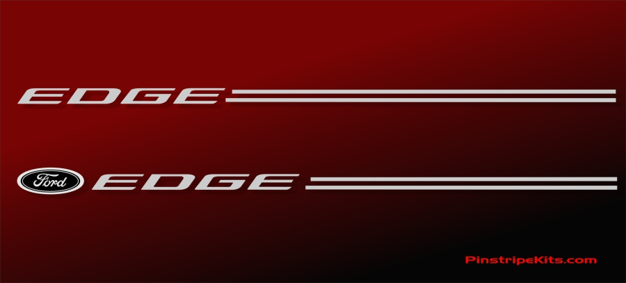 Ford Edge Vinyl Logo With Name Decal Emblem Pinstripe Kit