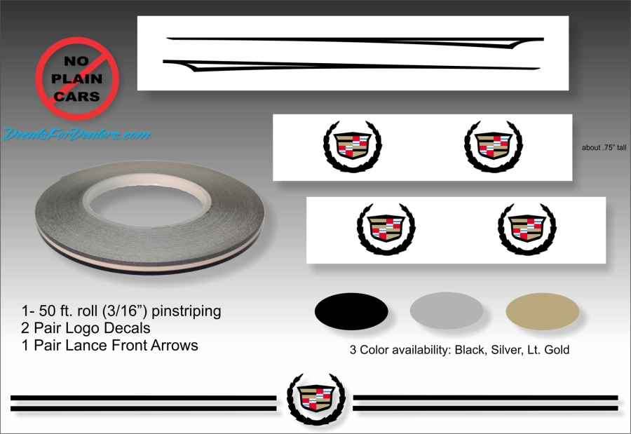 Factory Style Pinstripe Kits For Dealers Cadillac Buick