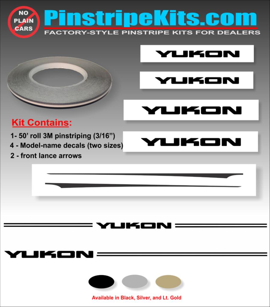 Gmc Yukon Name Logo Pinstripe Kit